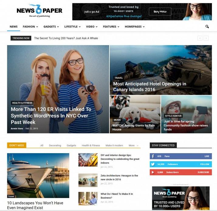 Newspaper Wordpress Child Theme Free Download - wordpress child ...