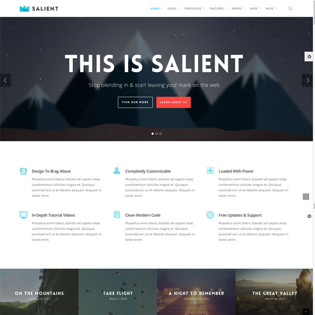 wordpress theme with multiple page templates - salient child theme download free wordpress child theme