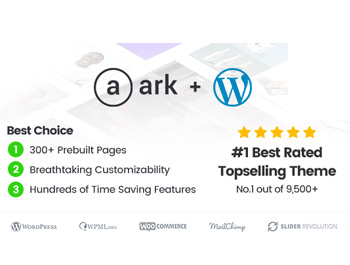 The Ark | Multi-Purpose WordPress Theme  $29 only